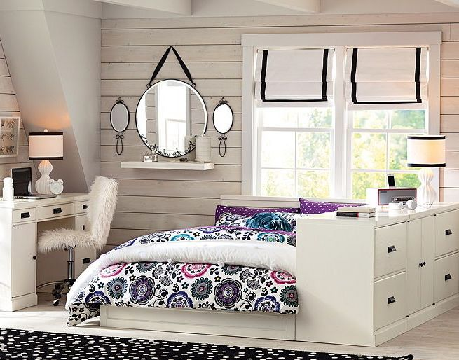 Pottery barn girls bedroom
